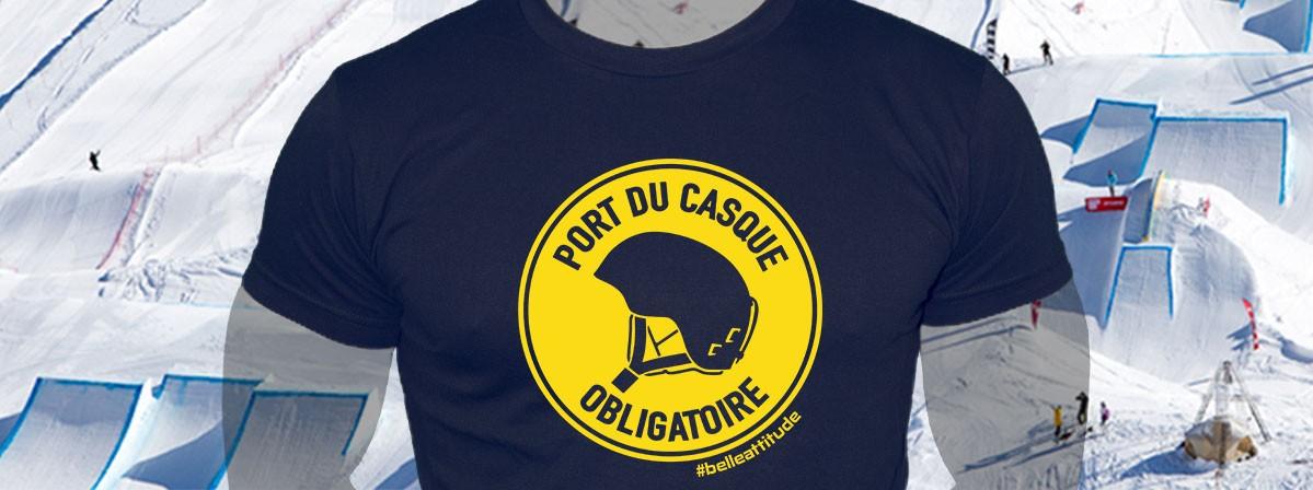 Tee-Shirt Belle Attitude Port du Casque