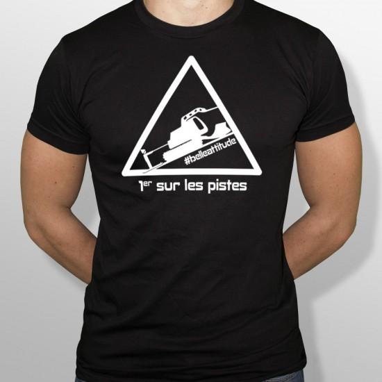Tshirt ski PREMIER SUR LES PISTES homme