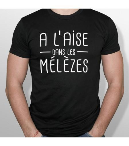 T-shirt ski A l aise dans les meleses