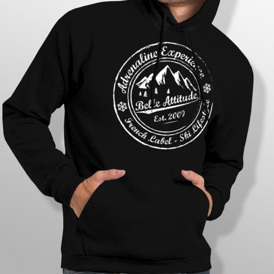 Sweat Capuche ski ADRENALINE EXPERIENCE homme