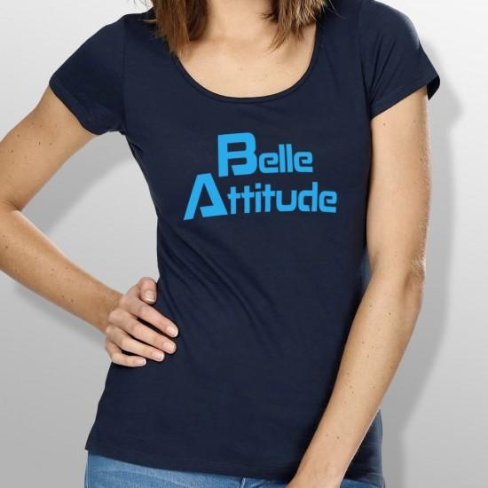 Tshirt ski BELLE ATTITUDE BLUE femme