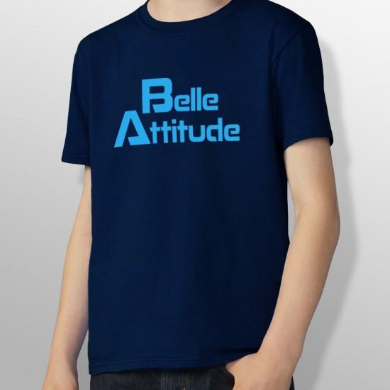 Tshirt ski BELLE ATTITUDE BLUE enfant