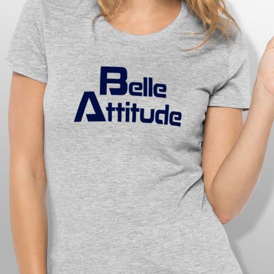 Tshirt ski BELLE ATTITUDE DARKBLUE femme