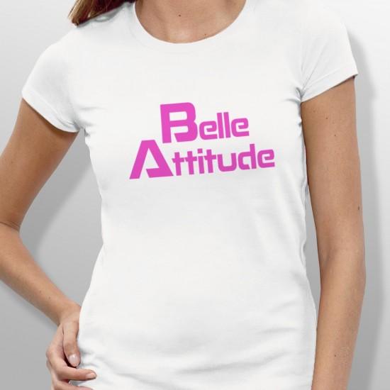 Tshirt ski BELLE ATTITUDE PINK femme