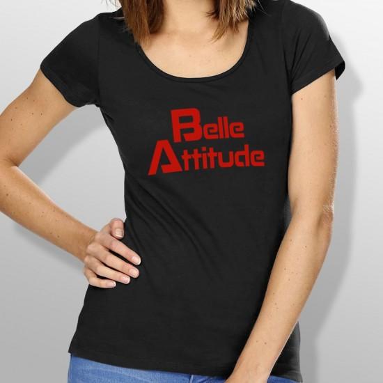 T-shirt belle attitude rouge femme