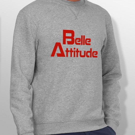 Sweat belle attitude rouge