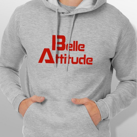 Sweat Capuche ski BELLE ATTITUDE RED homme