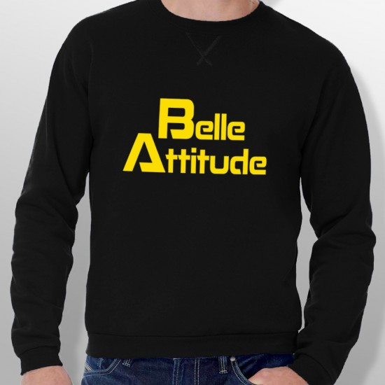 Sweat ski BELLE ATTITUDE YELLOW homme