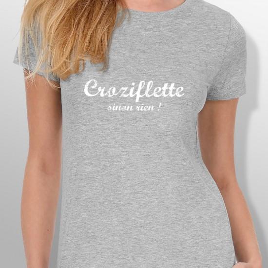 Tshirt ski CROZIFLETTE femme