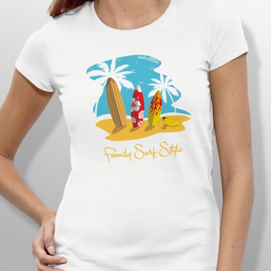 Tshirt FAMILY SURF STYLE femme