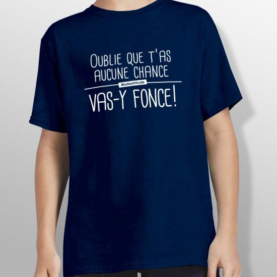 Tshirt ski FONCE enfant