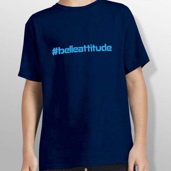 Tshirt ski HASHTAG BLUE enfant