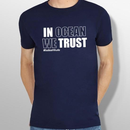 Tshirt IN OCEAN WE TRUST homme