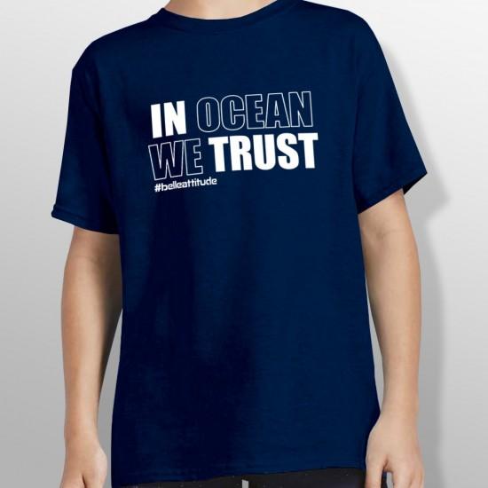 Tshirt IN OCEAN WE TRUST enfant