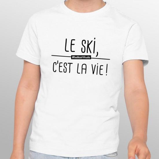 Tshirt ski LE SKI C'EST LA VIE enfant