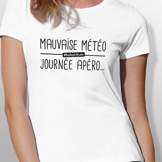 Tshirt ski MAUVAISE MÉTÉO femme