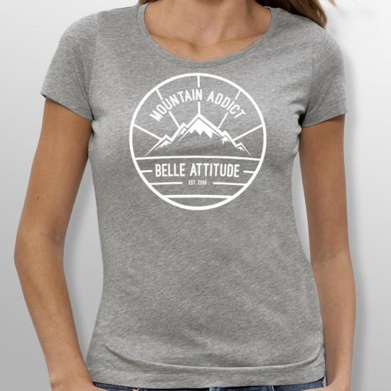 Tshirt ski MOUNTAIN ADDICT femme