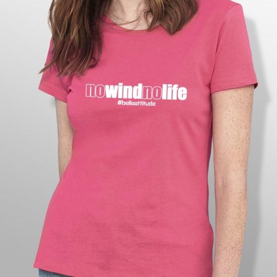 Tshirt NO WIND NO LIFE femme
