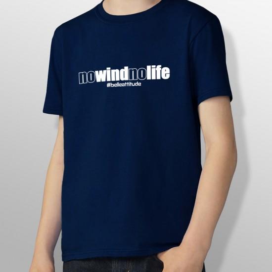 Tshirt NO WIND NO LIFE enfant