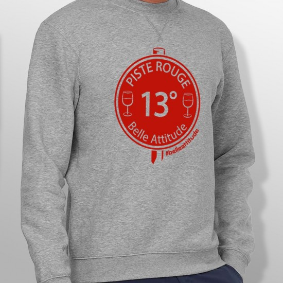 Sweat ski PISTE ROUGE homme