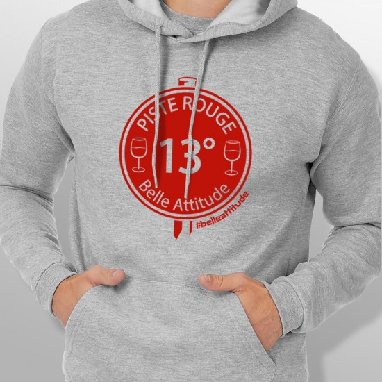 Sweat Capuche ski PISTE ROUGE homme