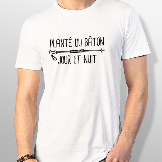 Tshirt ski PLANTÉ DU BÂTON homme