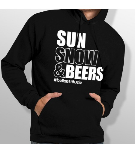 Sweat ski SUN SNOW AND BEERS homme