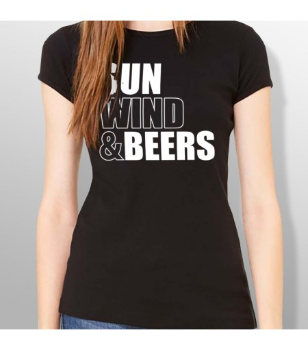 Tshirt SUN WIND AND BEERS femme