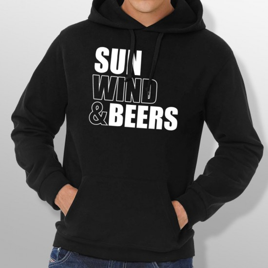 Sweat Capuche SUN WIND AND BEERS homme