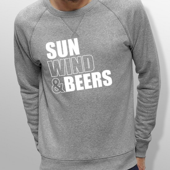 Sweat SUN WIND AND BEERS homme