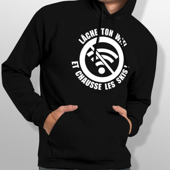 Sweat Capuche ski WIFI homme