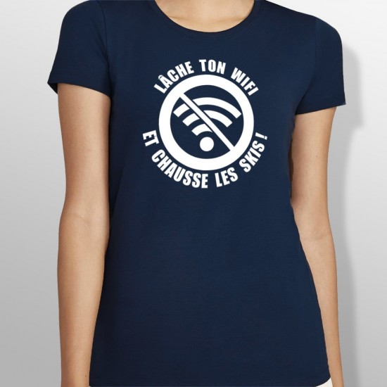Tshirt ski WIFI femme