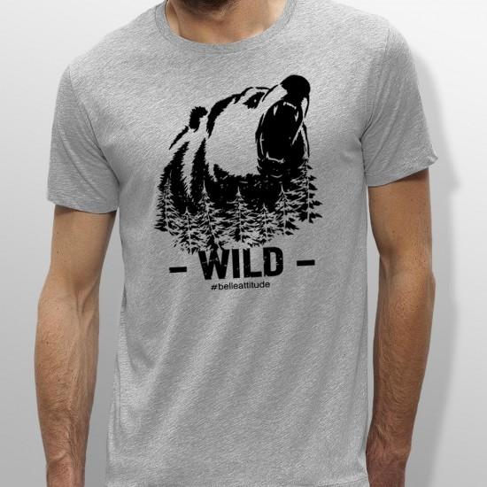 Tshirt ski WILD homme