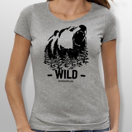 Tshirt ski WILD femme