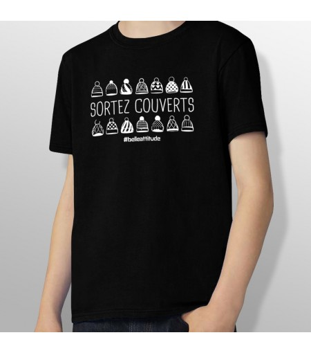 Tshirt ski SORTEZ COUVERTS enfant