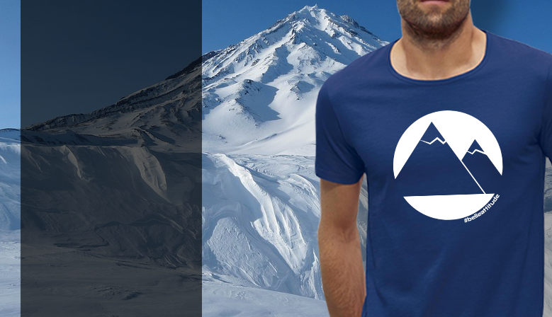 Tee Shirt Belle Attitude Mountains